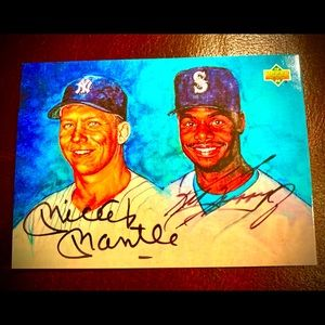 Mickey Mantle & Ken Griffey Jr Autographed RP Card